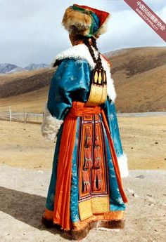 Traditional clothing from Tibet:
