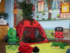 camping theme- love it! (no tent, though) from Clutter-Free Classroom: Camping Themed Classrooms Classroom Decor Themes, Classroom Setting, Classroom Design, Future Classroom, Classroom Organization, Classroom Ideas, Outdoor Classroom, Preschool Classroom, Preschool Ideas