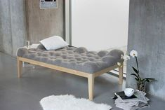 German designer Stefanie Schissler has created a day bed with a bumpy surface named Kulle.