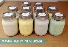 Rambling Renovators: Mason Jar Paint Storage