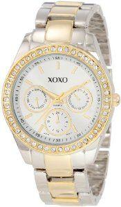 #XOXO Women's XO5429 Rhinestone Accent Two-Tone Bracelet Watch  women watch #2dayslook #new #watch #nice  www.2dayslook.com