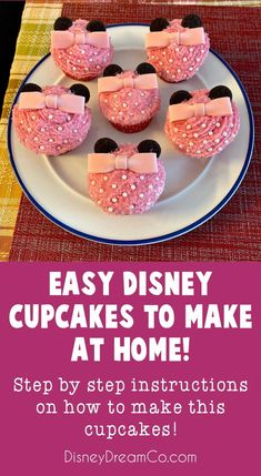 Check out how to make these super cute Disney Cupcakes. Mickey cupcakes. Minnie cupcakes. Disney World. Disney party. Disney birthday party. Mickey Mouse birthday party. Minnie Mouse birthday party. Cupcake recipes. #disney #disneycupcakes #disneybirthday #disneyparty #mickeyparty #minnieparty #birthday #minniebirthdayparty #mickeybirthdayparty Baking Cupcakes, Cupcake Recipes, Baking Recipes, Holiday Desserts, Holiday Baking, Holiday Recipes, Mickey Cupcakes, Mini Oreo, Light Cakes