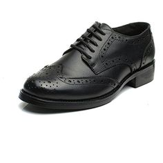 3e40858dd8d2 U-lite Women s Perforated Lace-up Wingtip Leather Flat Oxfords Vintage  Oxford Shoes Brogues     Discover this special product