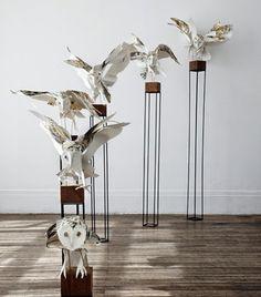 Esculturas en papel de Anna Wili Highfield