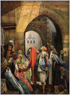 John Frederick Lewis - Cairo Bazaar, 1875