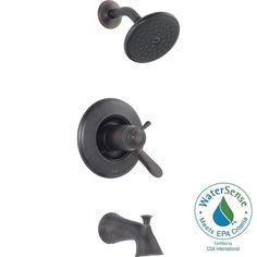 Delta Lahara TempAssure 17T Series 1-Handle Tub and Shower Faucet Trim Kit Only in Venetian Bronze ( (Shower Kits)