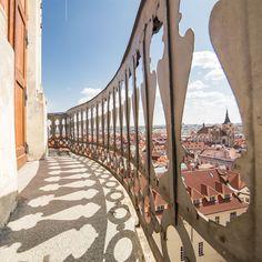 Gallery of the tower of Klementium Library, Prague, Czechia #prague #city #czechia