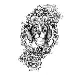 Royal Dog Tattoo Design. You dream it, we draw it. Get started on your custom tattoo design today! :
