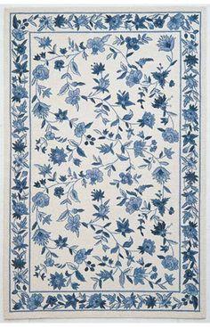 Kas Oriental Colonial Floral Ivory Rug