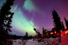 Travel Alaska - Alaska Cabins and Vacation Rentals - aurora borealis in winter
