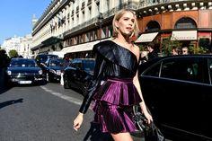 See All the Street Style From Paris Fashion Week: Elena Perminova