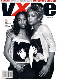 TLC appearing on the cover of Vibe Magazine 2003 (special edition).