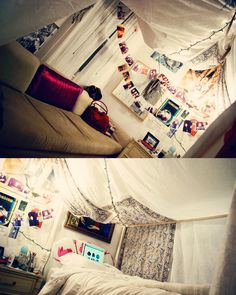 an-empire-of-moths:    I made my room into a tent.