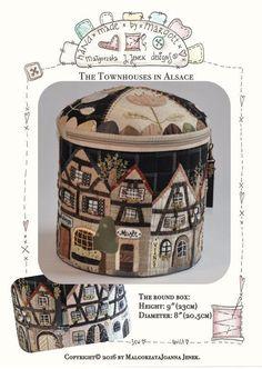 Townhouses in Alsace-XLround box MJJenek quilt от MJJenekdesigns