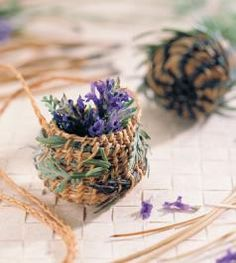 Wow!!! Basket Weaving 101  Rosemary and lavender can be combined with pine needles and coiled into fragrant, beautiful baskets.
