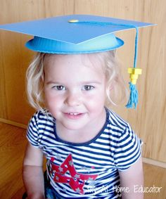 do-it-yourself preschool graduation caps - Stay At Home Educator