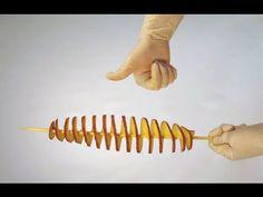 Вот как легко сделать станок для торнадо картофеля!!/How to easily make a spiral potato cutter!! - YouTube