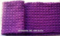Bufanda mujer realizada a dos agujas. Diseño propio (ver tienda en mi blog)