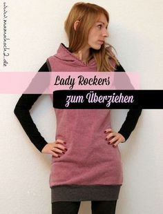 Knitting Patterns Sweaters From our Freebook Lady Rockers you can not only sew clothes, pullovers, hoodies and shirts, but also . Coat Patterns, Sewing Patterns Free, Free Sewing, Sewing Tutorials, Clothing Patterns, Knitting Patterns, Dress Patterns, Crochet Patterns, Sewing Projects