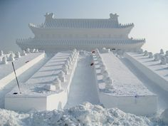 Beautiful Photos From The Ice Sculpture Festival in Harbin, China - Country Living    2015