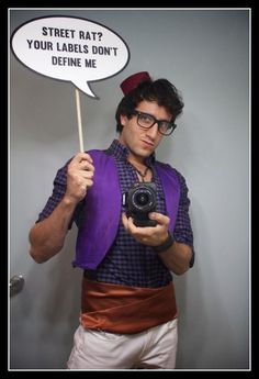 Hipster Aladdin Costume facebook.com/razorbladecookies