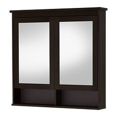 "HEMNES Mirror cabinet with 2 doors - black-brown stain, 40 1/2x6 1/4x38 5/8 "" - IKEA"