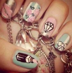 Very girly nail desighns