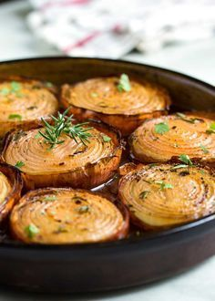 These marinated, slow roasted onions get soft and creamy on the inside and caramelize on the outside for a killer side dish. The aroma is so mouthwatering and everyone rave about them. Give them a try! http://www.keviniscooking.com