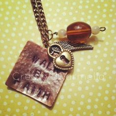 """""""Walk By Faith"""" hand stamped pendant necklace just added to the shop! http://creativecarmella.storenvy.com/products/350320-walk-by-faith"""