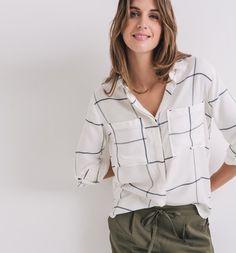 Koszula damska kratka ecru - Promod