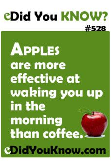 So I guess we should all be eating apples if we want to wake up better.