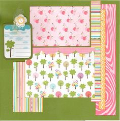 2 page layout kit -12x12. This kit has been created by Crop-A-Latte. All items are precut and ready to assemble. Youll also receive easy to follow