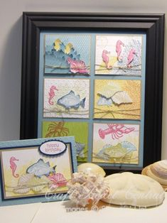By the Tide Picture & Card Gift Set! www.CraftProjectCentral.com