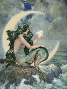 Mermaid Moon ~ artist unknown