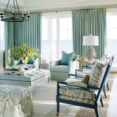 Sync your draperies with the sea.