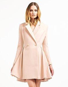 Womens dark tan coat from Jaeger £399 at ClothingByColour