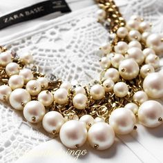 Pearl Blossom Statement Necklace #pearls #fashion #statementnecklace #necklace - 26,90  @happinessboutique.com