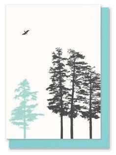 Hemlock trees greeting card