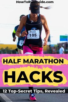 Running Plan Discover 12 Half Marathon Hacks Revealed Half marathons are challenging so why not make them a little easier by learning these 12 genius half marathon hacks? Valuable tips & tricks from half marathoners for half marathoners! Half Marathon Tips, Disney Half Marathon, Running Half Marathons, Princess Half Marathon, First Marathon, Half Marathon Tattoo, Chicago Half Marathon, Marathon Gear, Marathon Signs