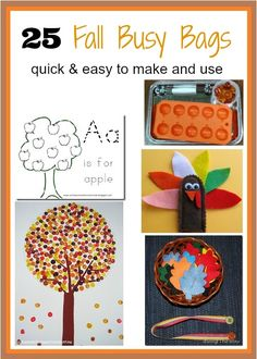Fall Busy Bag ideas- Keep your preschoolers busy with fun and engaging activities.