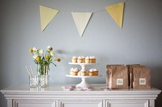 Yellow Party, #cupcakes #yellow