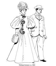Late Victorian and Edwardian Fashions  By Tom Tierney 1895