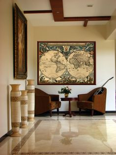 Old World Map Map Art Historic Map Antique Style World Map Wall - Old map shop