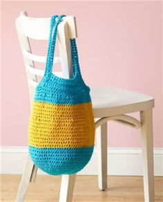 Striped Bubble Tote: free pattern