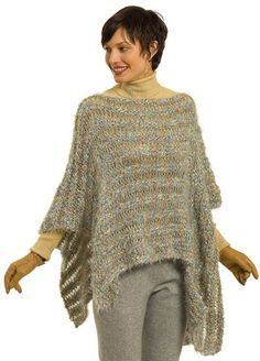 simple crochet poncho - Google Search