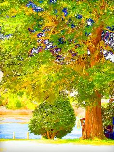 Big Tree Painting by Lanjee Chee
