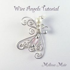 Wire Jewelry Wire Angels diy-jewelry-Not sure that this is a beginner's level project but it never hurts to try it! Wire Wrapped Jewelry, Metal Jewelry, Beaded Jewelry, Handmade Jewelry, Body Jewelry, Wire Crafts, Jewelry Crafts, Wire Jig, Bijoux Fil Aluminium