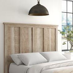 Diy King Headboard, Grey Headboard, Panel Headboard, Headboard Ideas, Wall Mounted Headboards, Headboards For Beds, Homemade Headboards, Wood Furniture Living Room, Pallet Furniture