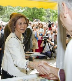 Queen Sofia seemed to enjoy her day talking to the people at the many stands.