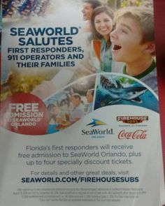 Sweet #SeaWorld First responders appreciation